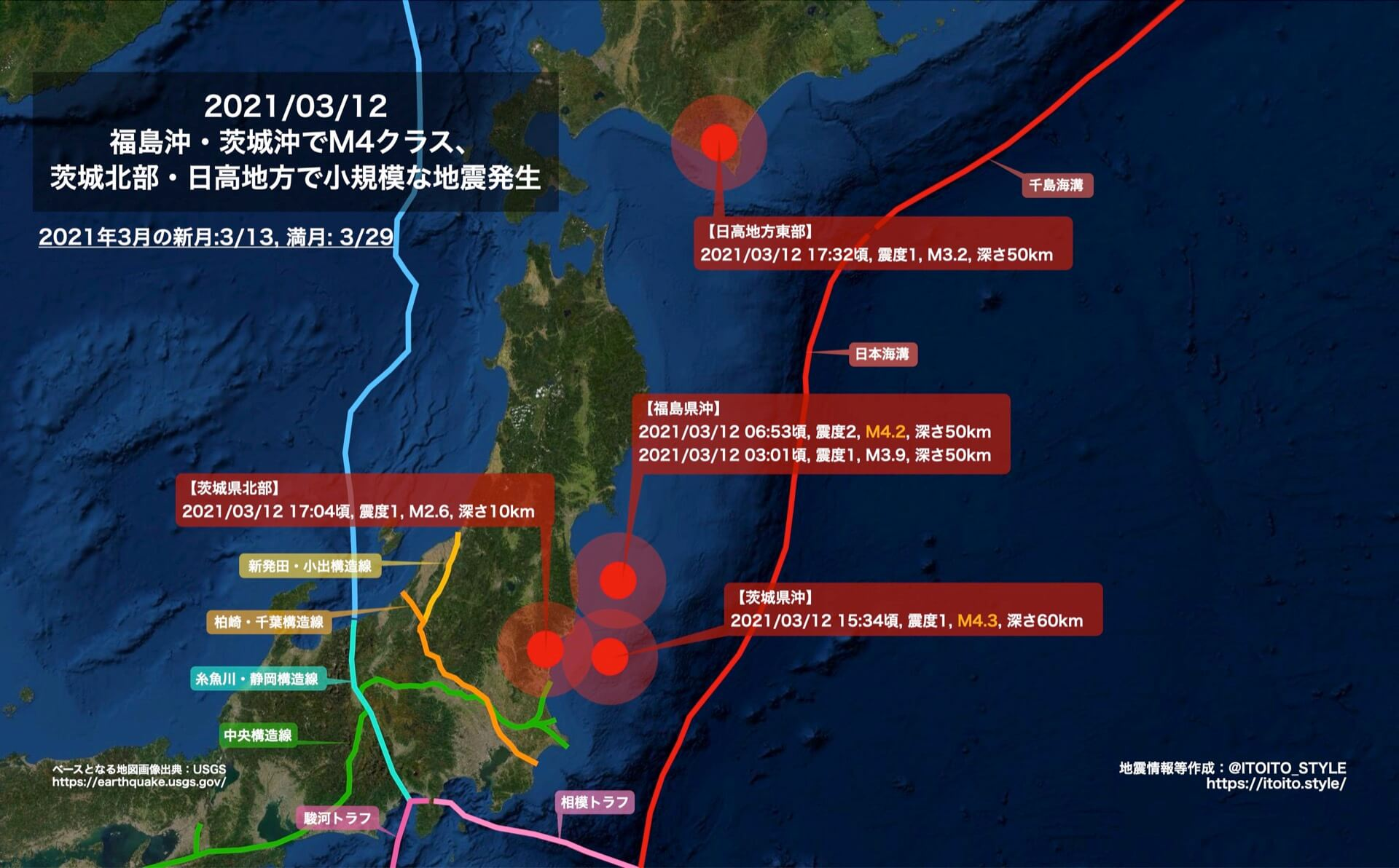 福島沖・茨城沖でM4クラス、茨城北部・日高地方で小規模な地震発生 ...